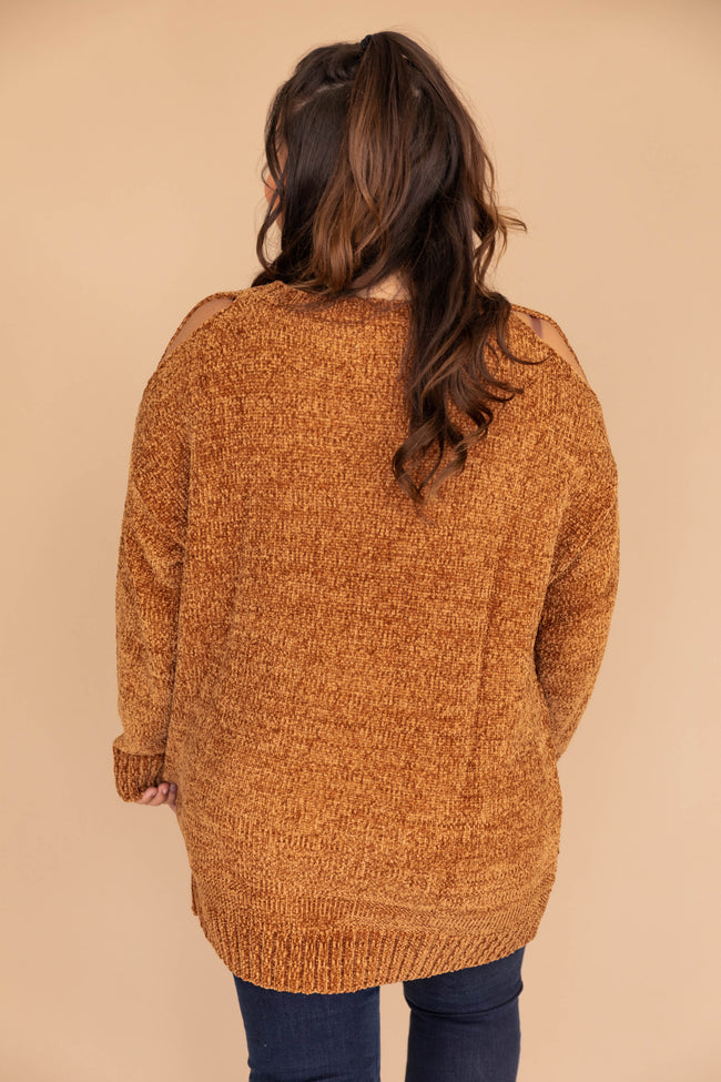 My Soul Mate Brown Chenille Sweater CLEARANCE