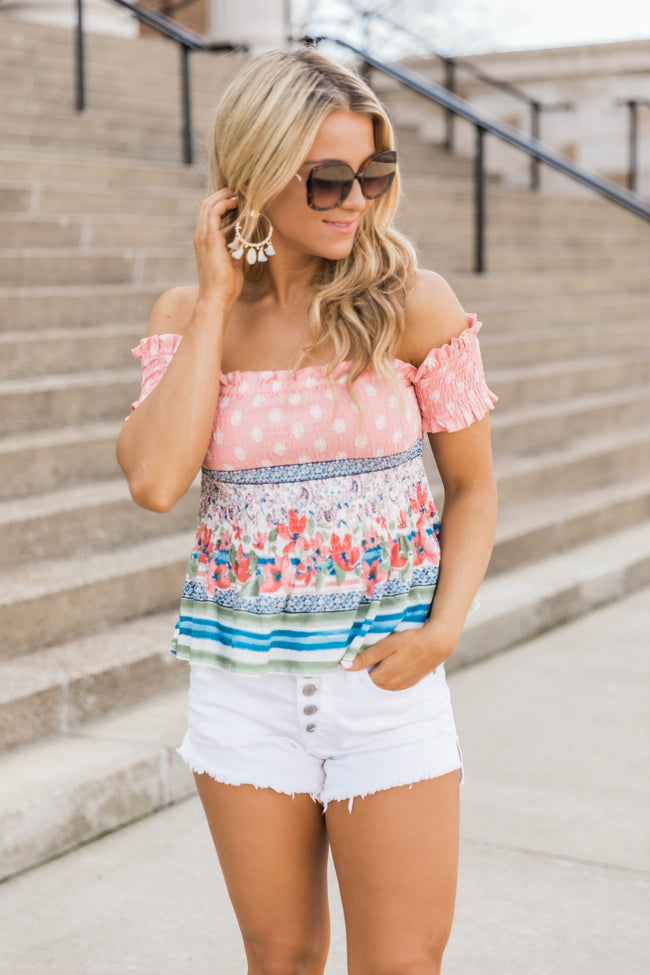 My Summertime Love Blouse Coral