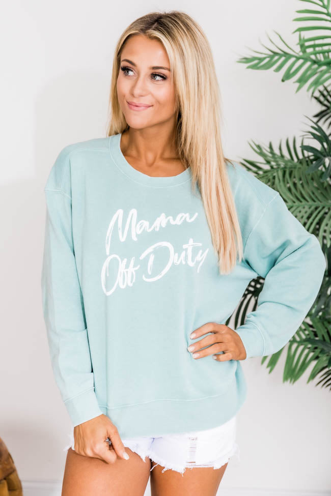 Mama Off Duty Graphic Sweatshirt