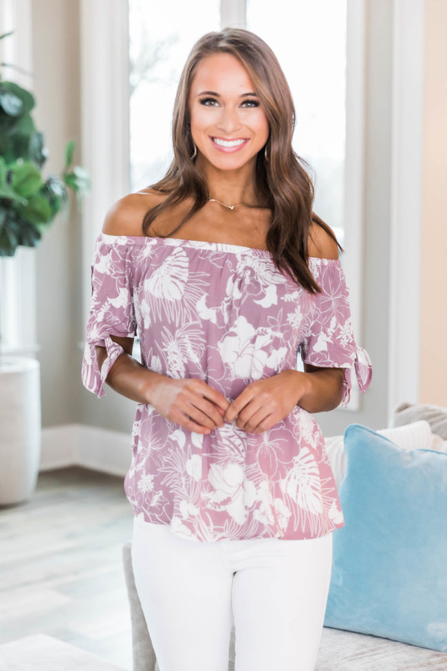 Near Your Heart Berry Printed Blouse