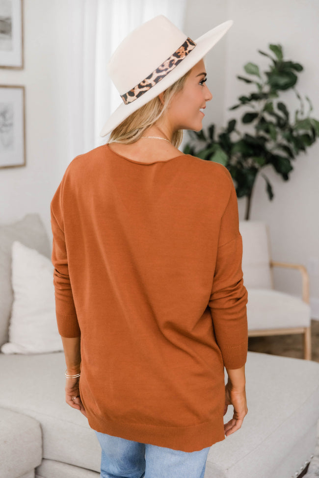 Need You By My Side Rust Sweater CLEARANCE