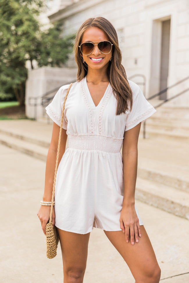 Not Just Anyone Romper Blush