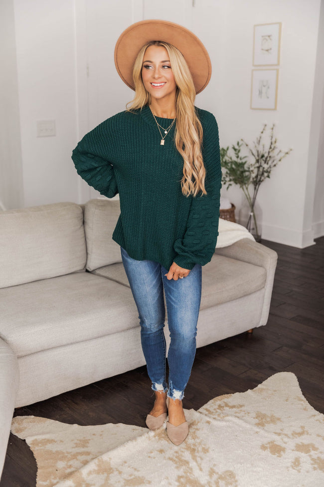 Perfect Time For Love Evergreen Sweater