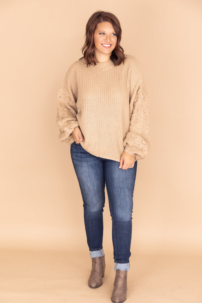 Perfect Time For Love Taupe Sweater