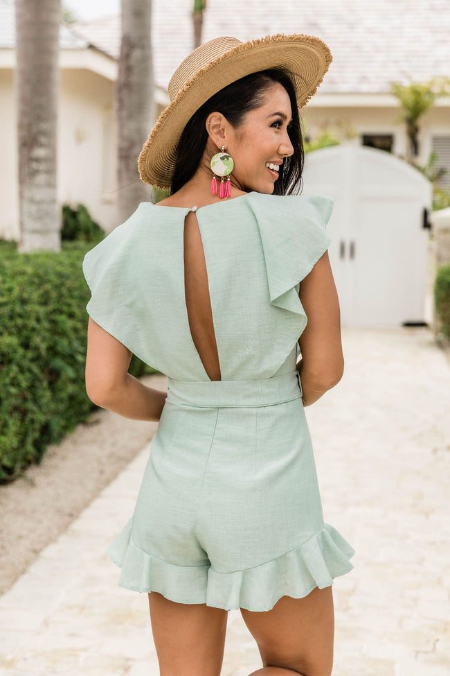 Playing With Fire Sage Romper