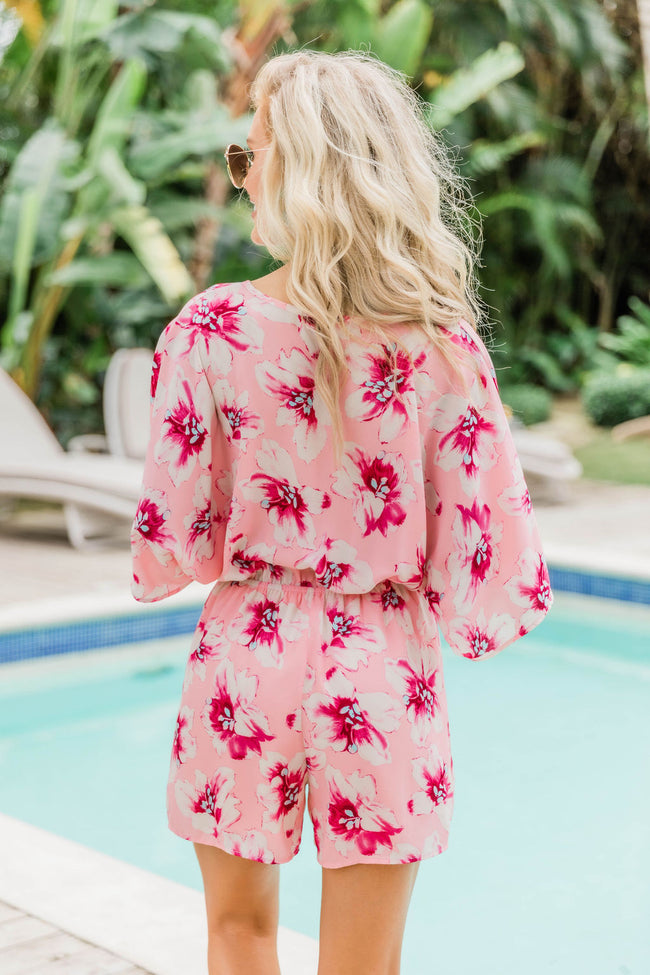 Polynesian Nights Floral Print Romper FINAL SALE