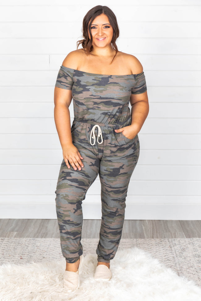 Potential New Love Camo Jumpsuit