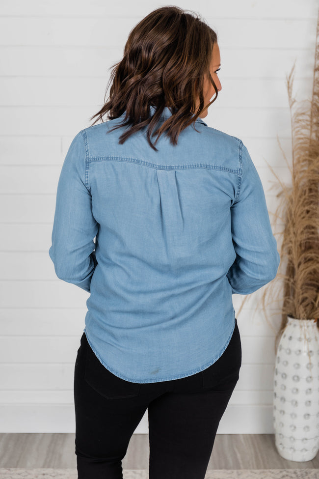 Proudly Yours Chambray Shirt Blue