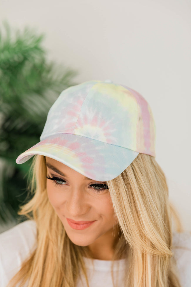 Relaxing Reality Tie Dye Hat Pink