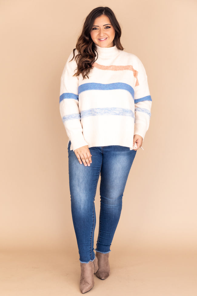 Relive A Fantasy Striped Turtleneck Sweater