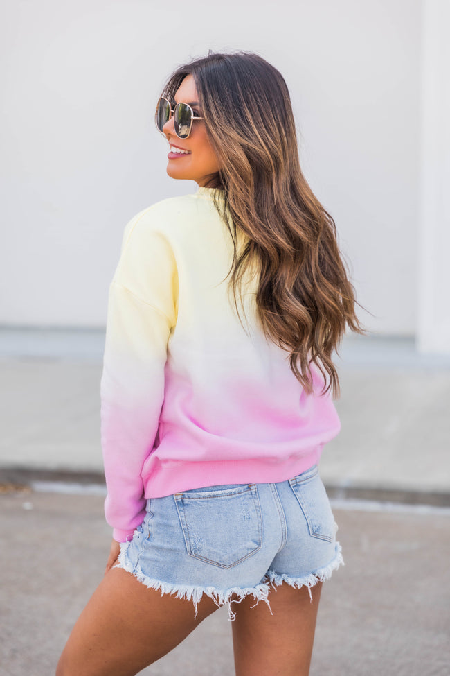 Risking It All Tie Dye Pullover Yellow