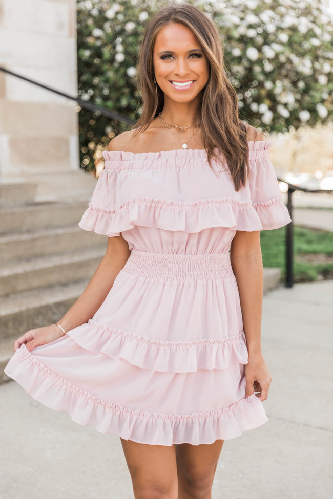 Ruffles In My Heart Dress Mauve FINAL SALE