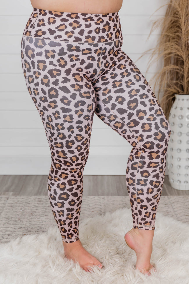 Run To You Animal Print Brown Leggings