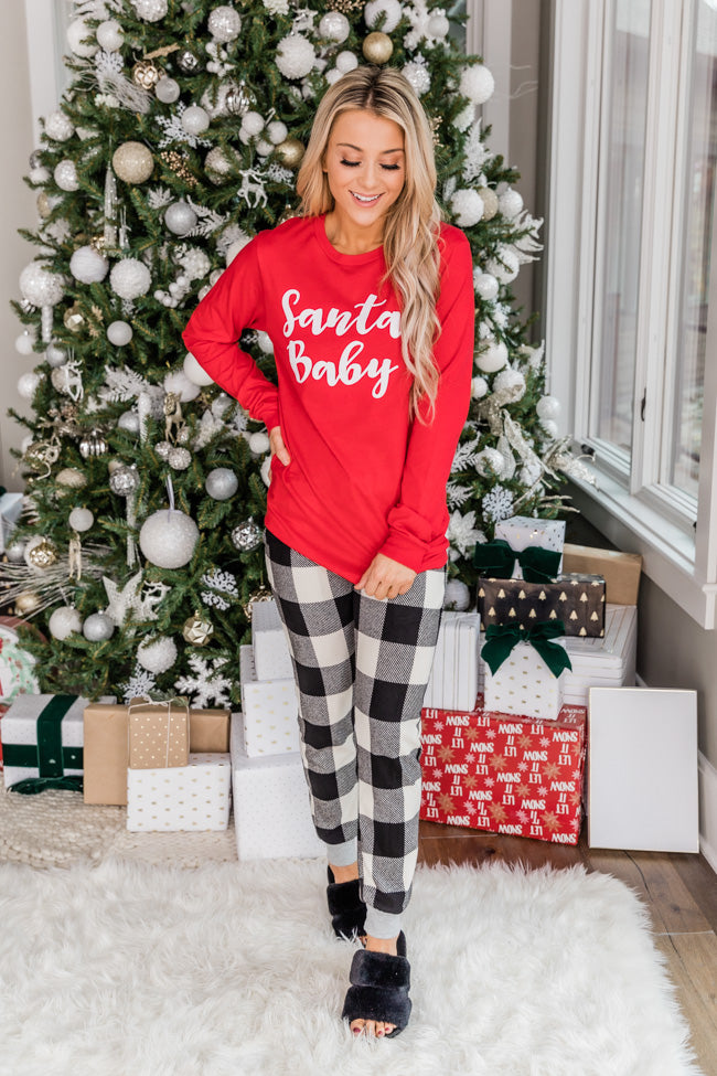 You're My Favorite Black Plaid Lounge Pants FINAL SALE