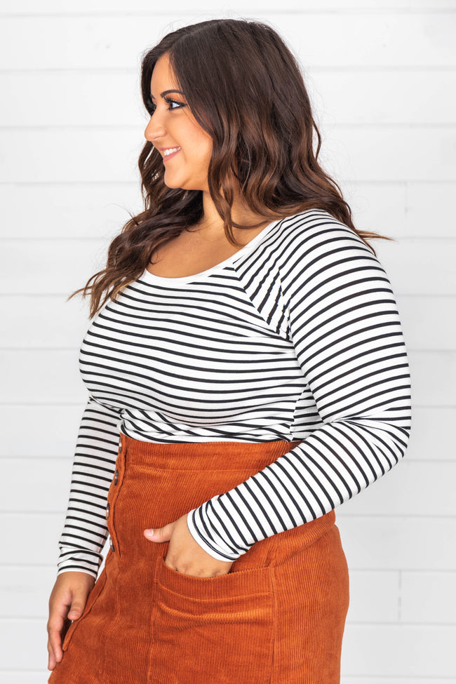 Say That You Love Me Striped Blouse