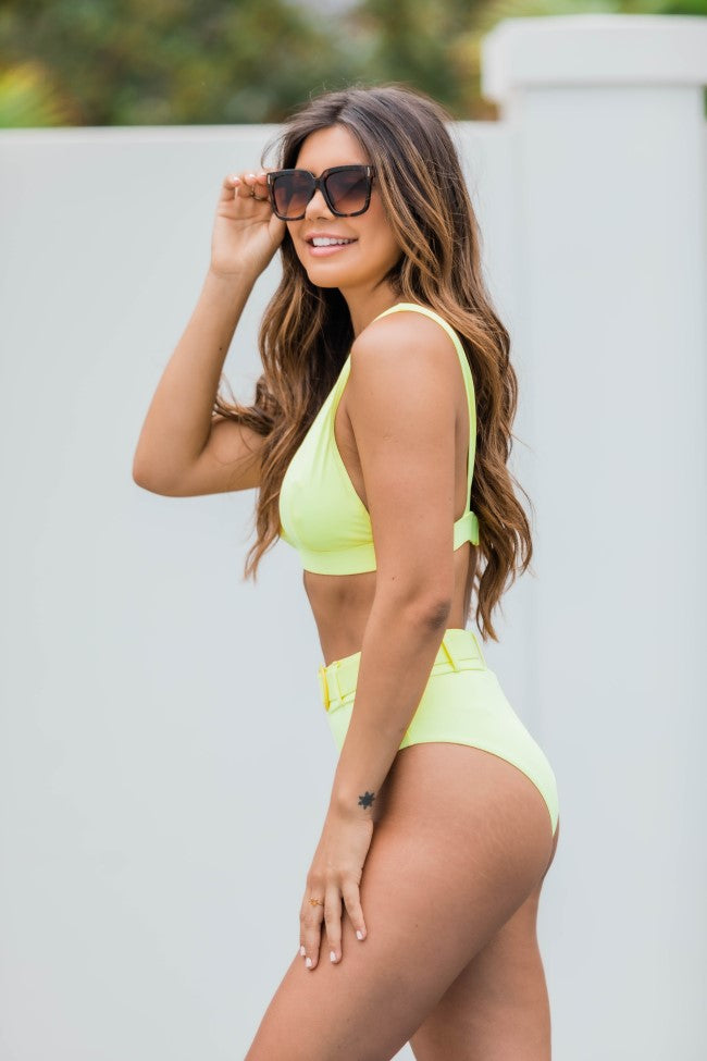 Sea You Later Yellow Bikini Top FINAL SALE