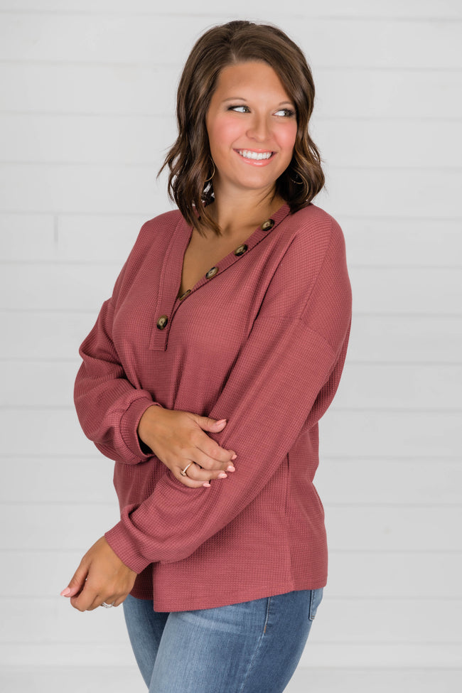 See The Beauty In Me Dark Mauve Blouse