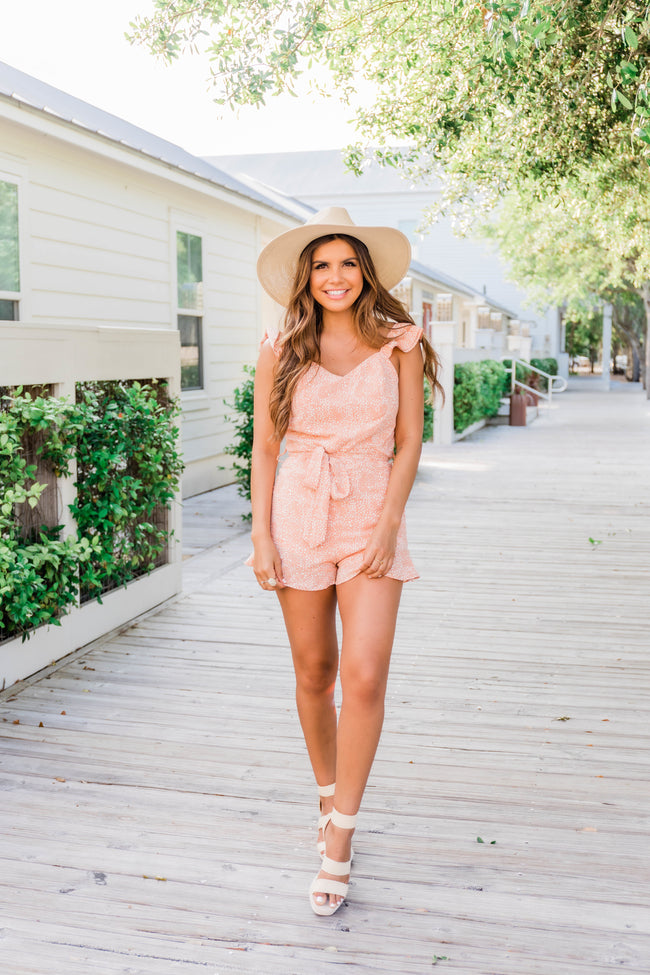 Seeking Someday Romper Peach