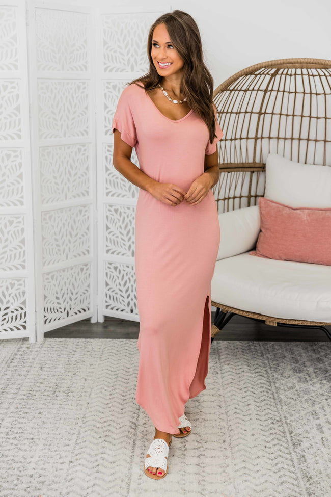 Set Yourself Free Mauve Maxi Dress