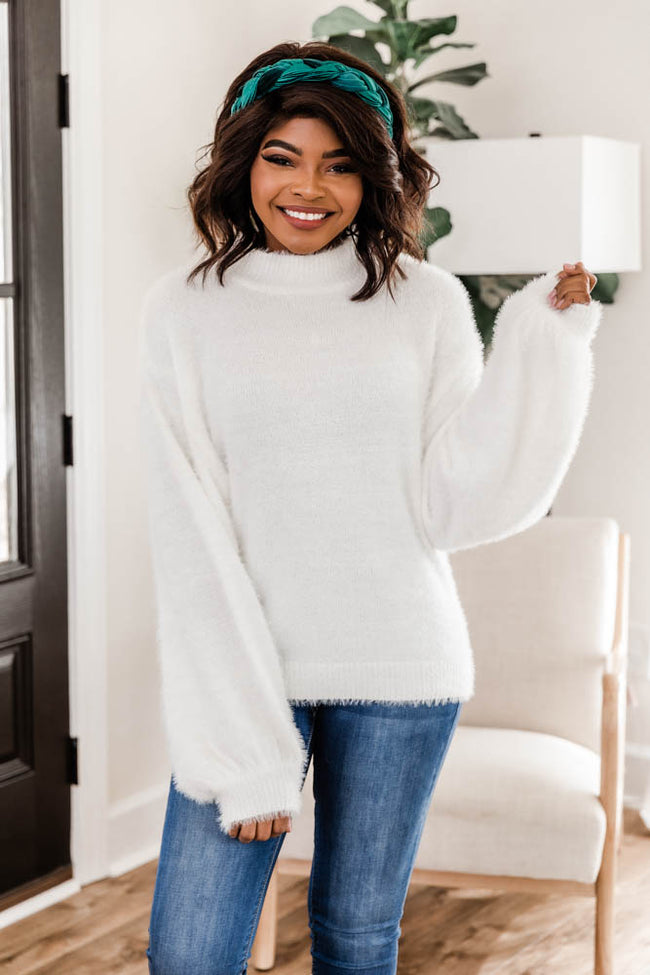Share A Memory Fuzzy Ivory Sweater FINAL SALE
