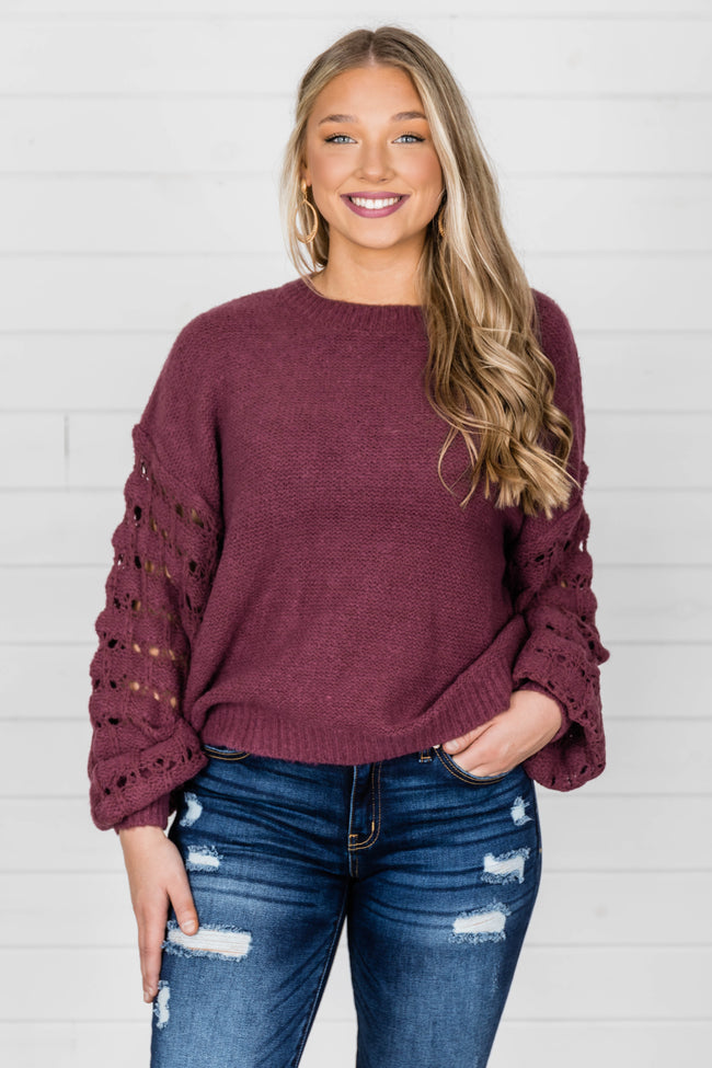 She's The Center Of Attention Purple Sweater
