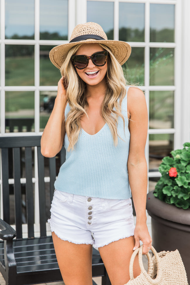 Simpler Times Light Blue Sweater Tank