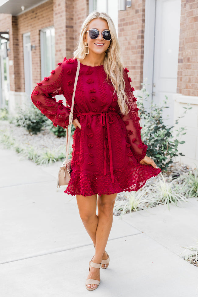 So Close To My Heart Burgundy Dress