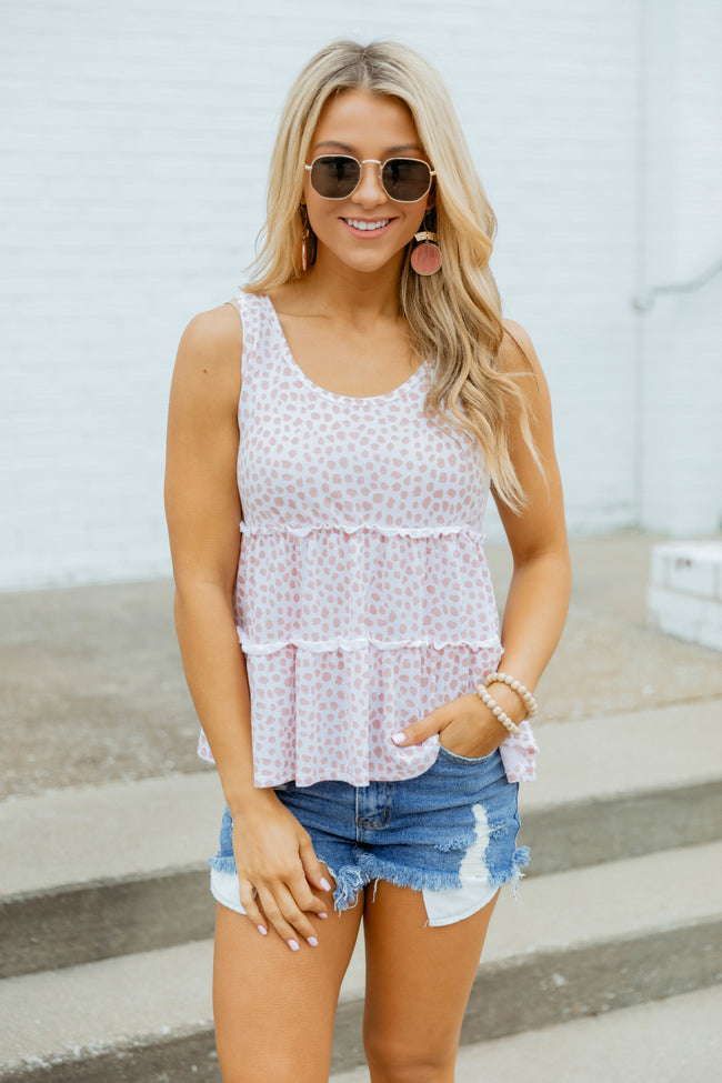 Wildly Loved Animal Print Tank Pink
