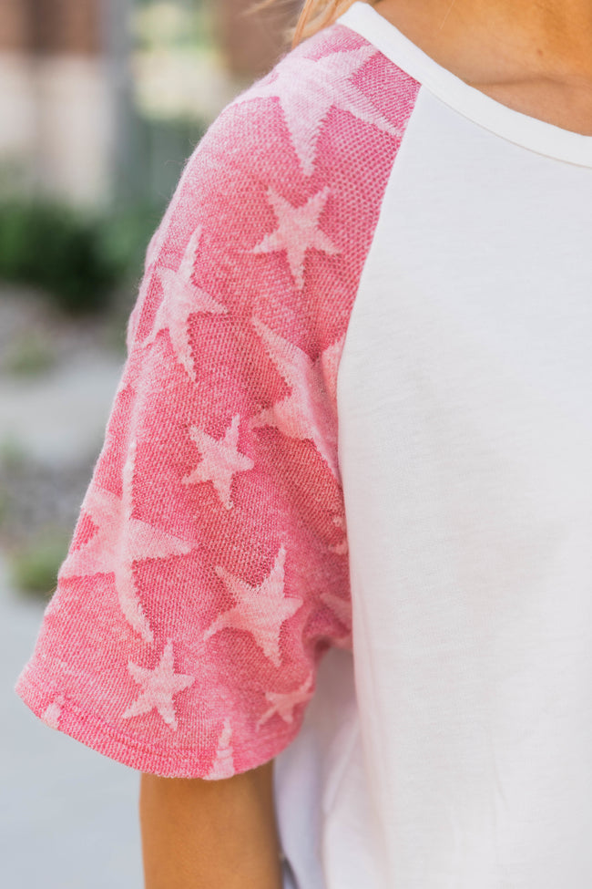 Stars In Your Eyes Tee Coral FINAL SALE