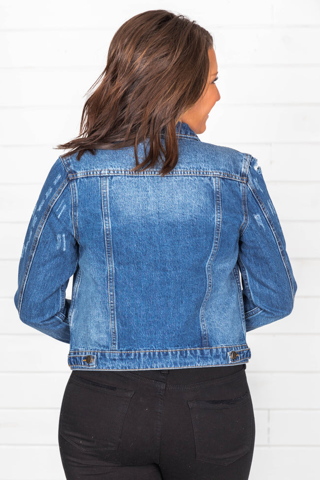 Stay Beautiful Dark Wash Denim Jacket