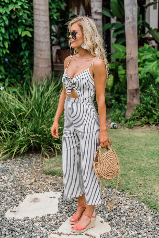 Stay Focused On Forever Striped Jumpsuit