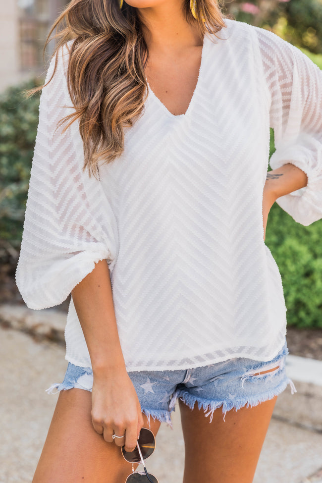 Stylish Romance White Blouse