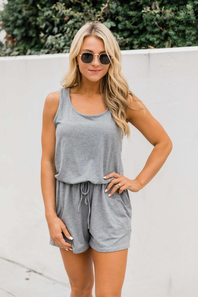 Summer Classics Heather Grey Romper