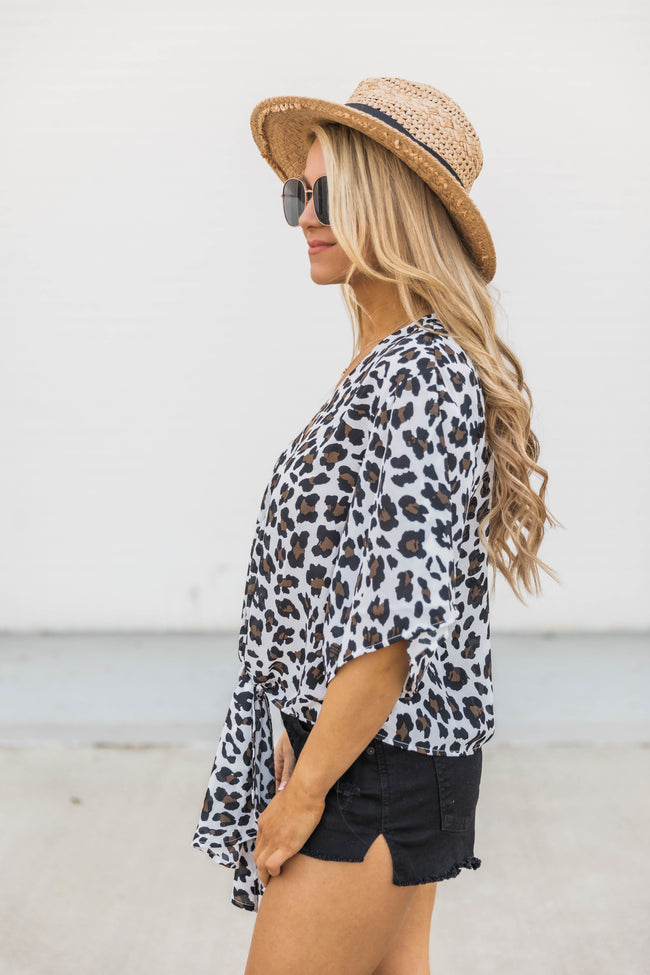 Summer Passions Cream Animal Print Blouse FINAL SALE