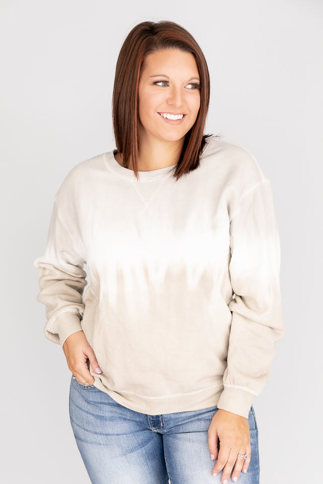Sunday Afternoon Tie Dye Mocha Pullover