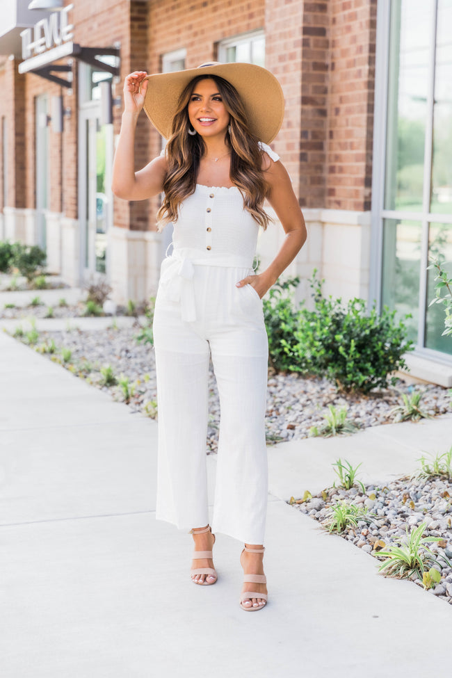 Sweet Thing Jumpsuit White