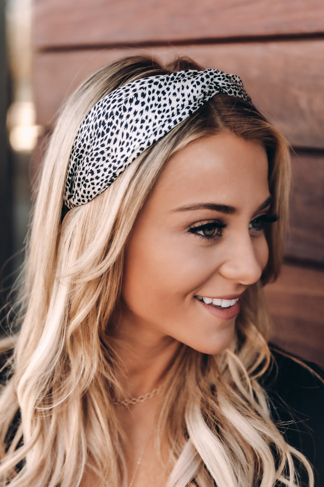 Sweetest Blessing White Printed Headband