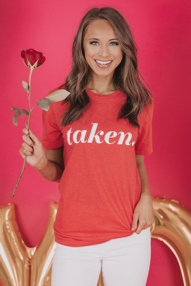 Taken Red Graphic Tee