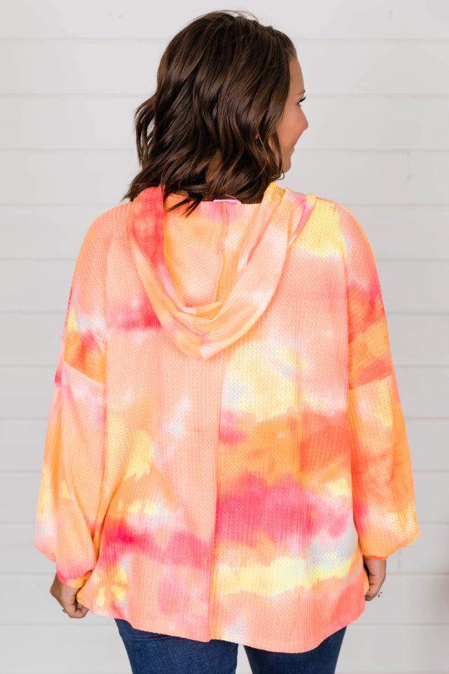 The Good Life Pink Tie Dye Pullover FINAL SALE