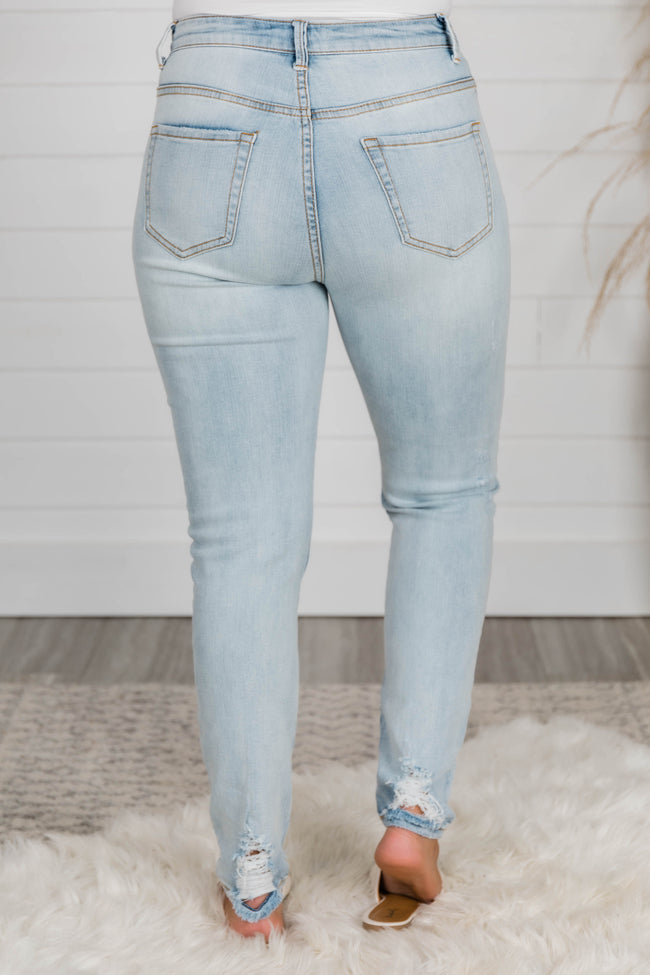 The Maggie Light Wash Distressed Skinny Jeans