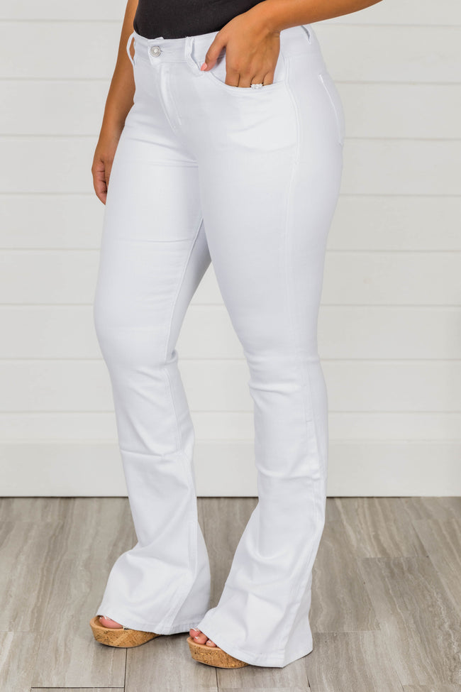 The Michelle White Flare Jeans