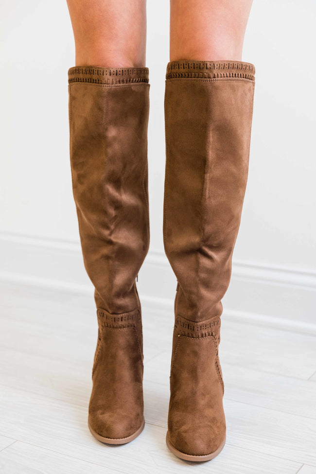 The Verona Brown Knee High Boots  FINAL SALE