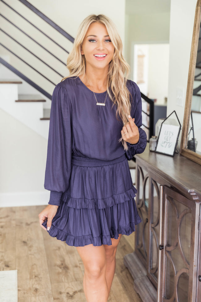 These Are The Nights Navy Dress FINAL SALE