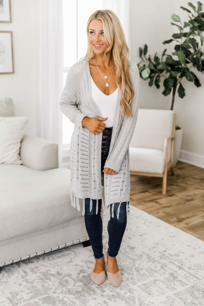 This Love I've Found Light Grey Cardigan