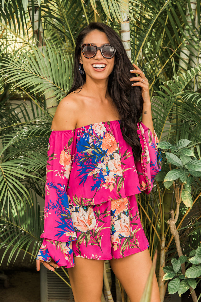 This Beautiful Life Magenta Floral Romper