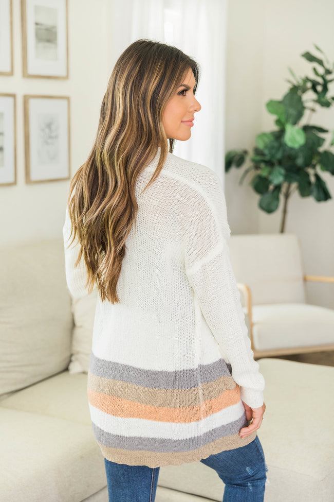 Through All The Days Striped Cardigan FINAL SALE