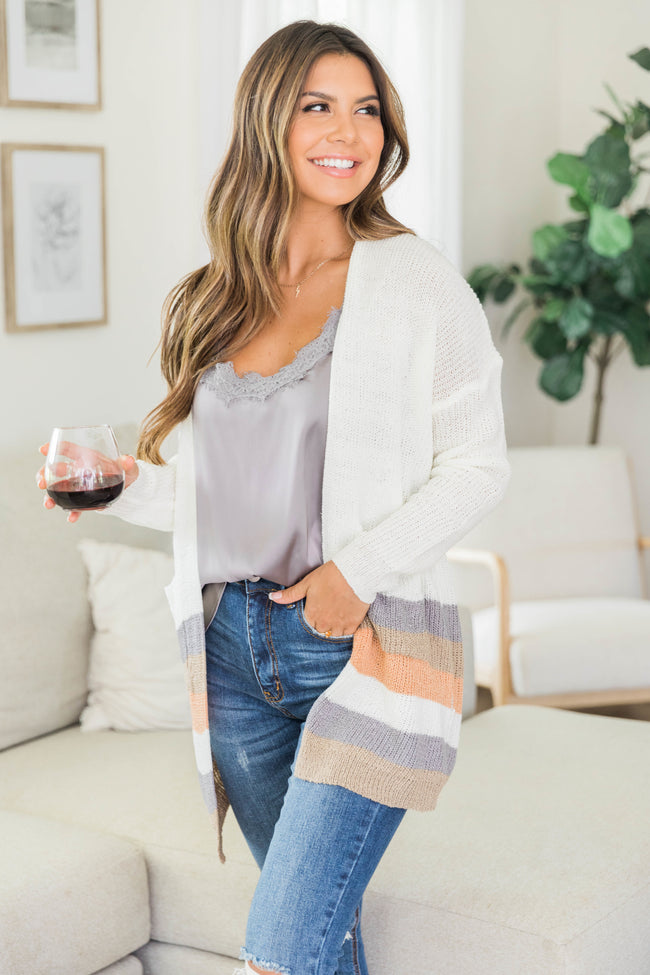 Through All The Days Striped Cardigan CLEARANCE
