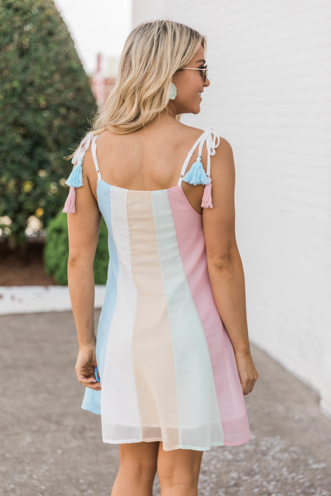 Time Together Colorblock Dress Pink