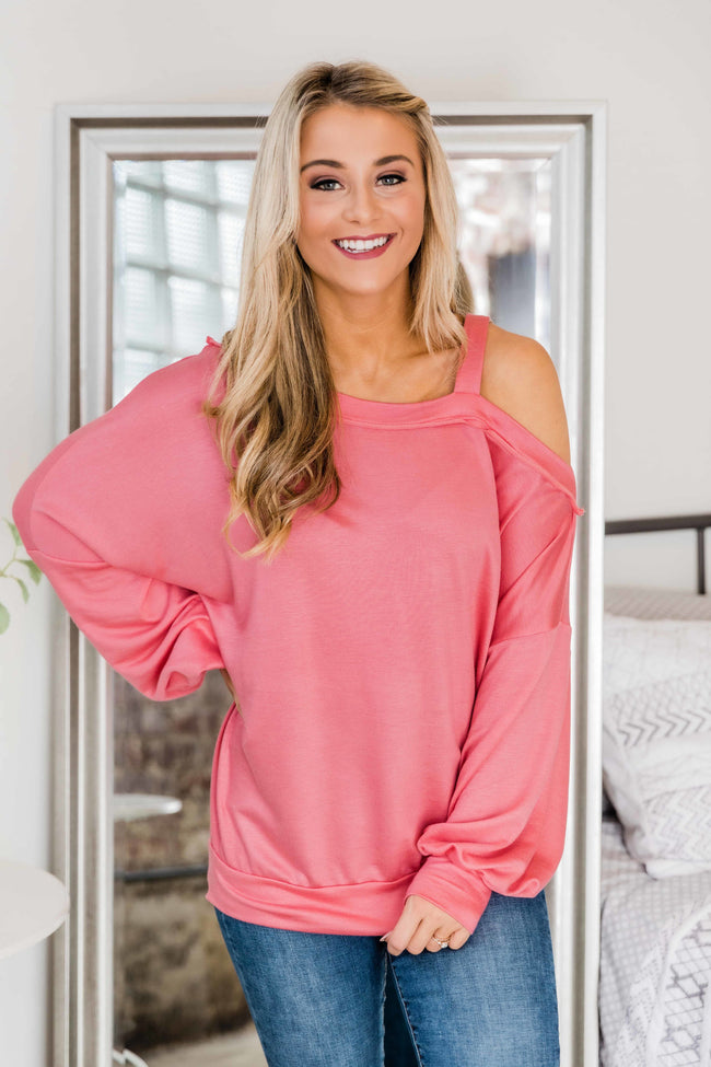 Today's Your Day Coral Pullover
