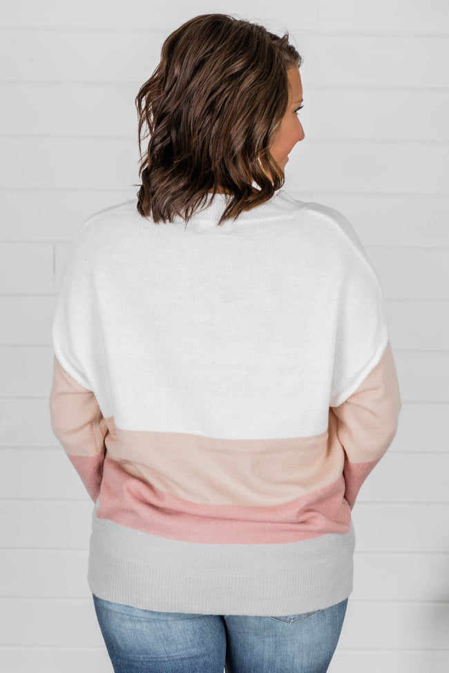 Tomorrow's Another Day Blush Colorblock Pullover